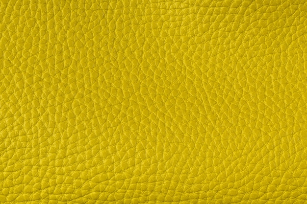 Closeup textured yellow leather background, big grain