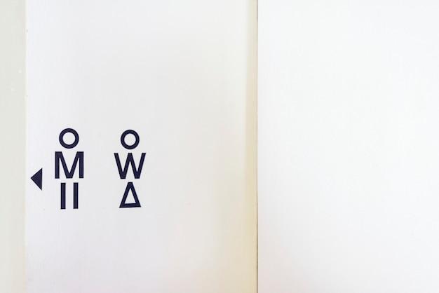 Closeup of toilet board