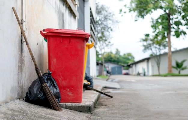 Closeup trash bin