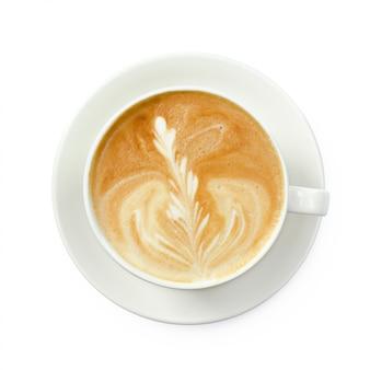 Крупным планом кофе латте