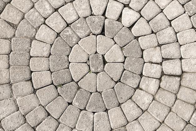 Closeup view on a cobblestone road