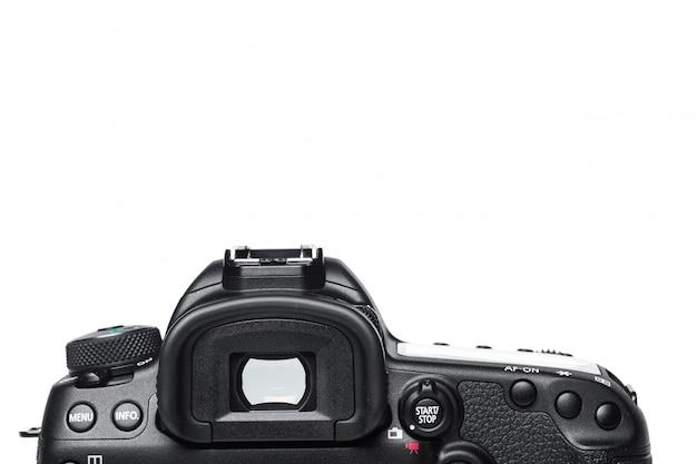 Closeup view of digital camera
