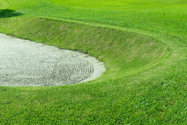 Closeup view of a golf course