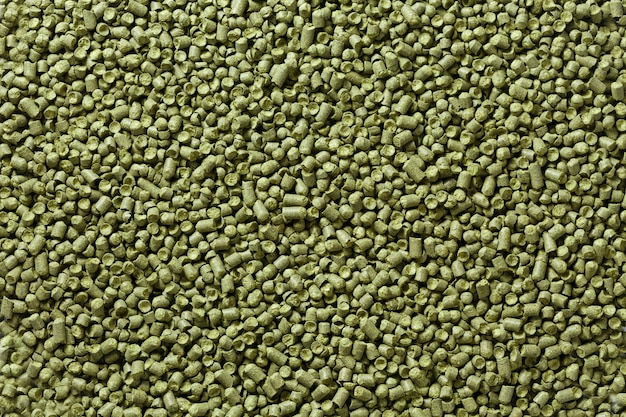 Closeup view of granule hop hopes. background texture.