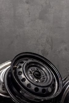 Closeup wheel car