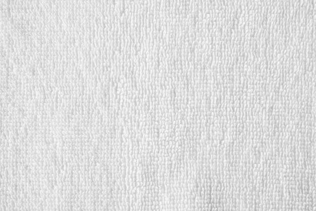 Крупным планом белое хлопковое полотенце текстуры абстрактный фон