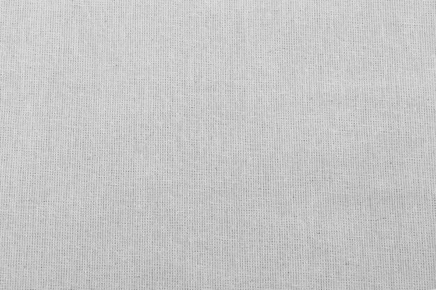 クローズアップ白い細かいキャンバスのテクスチャ