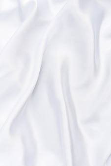 Closeup of white smoot fabric