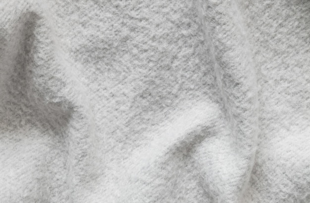 Closeup wrinkled gray jacket fabric background