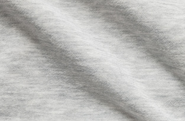 Closeup wrinkled gray jacket fabric