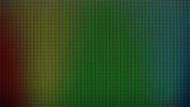 Светодиодный индикатор closeup загорается диодом из светодиодного экрана телевизора или светодиодного монитора