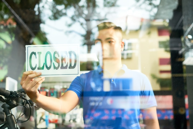 Closing sports shop