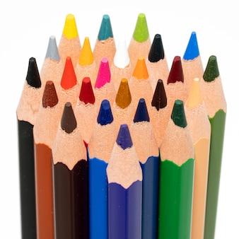色鉛筆のclosupビュー