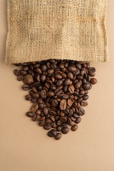 Cloth bag with coffee beans