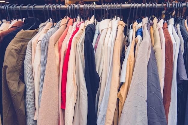 Cloth on rack