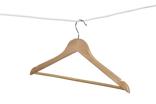 ロープにぶら下がっているハンガー