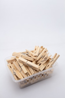 A clothespin or clothes peg is used to hang up clothes for drying, normally on a clothes line. clothespins often come in many colors and different designs. can be in plastic or wooden