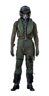 Одежда для пилотов или костюм пилотов на белом фоне
