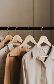 スタジオの衣類ラック
