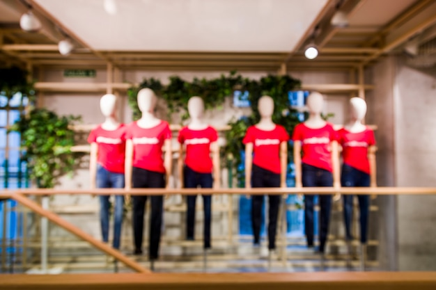 Clothing store with blurred efecto