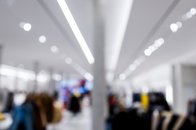 Clothing store with blurred effect