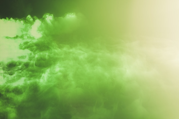 Cloud background with a green vibrant color