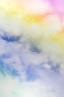 Cloud background with a pastel color