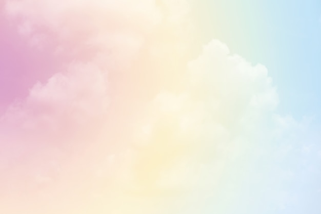 Cloud background with a pastel colour