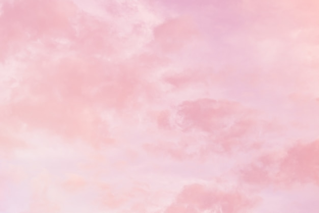 Cloud background with a pink pastel colour