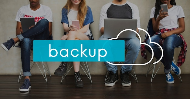 Cloud computing back up download network