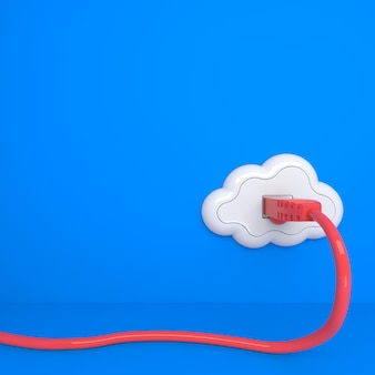 Cloud computing concept. future - everything from socket