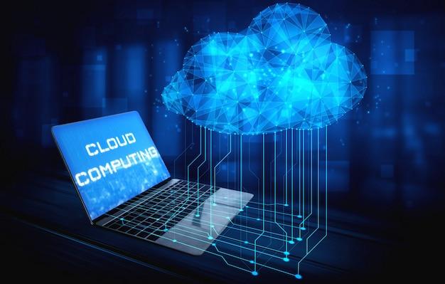 ビジネスネットワークの概念のためのクラウドコンピューティング技術とオンラインデータストレージ。