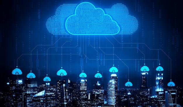 비즈니스 네트워크 개념을위한 클라우드 컴퓨팅 기술 및 온라인 데이터 스토리지