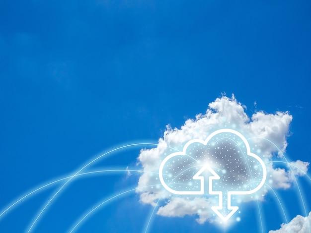 Cloud computing technology concept.