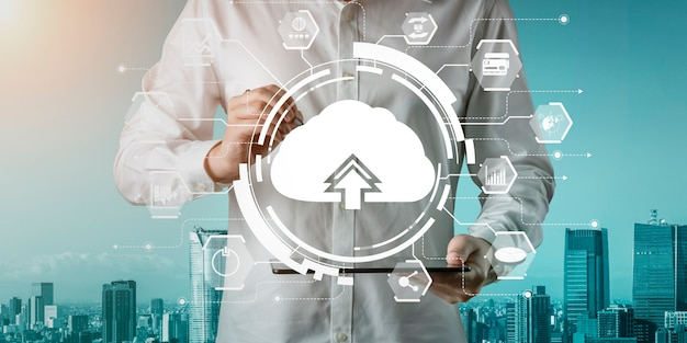Cloud computing technology and online data storage for global information share