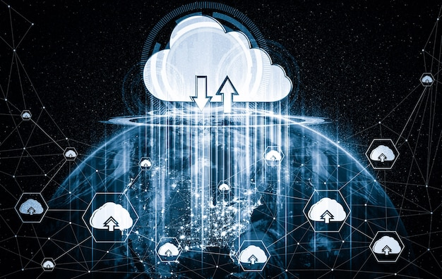 Cloud computing technology and online data storage in innovative perception