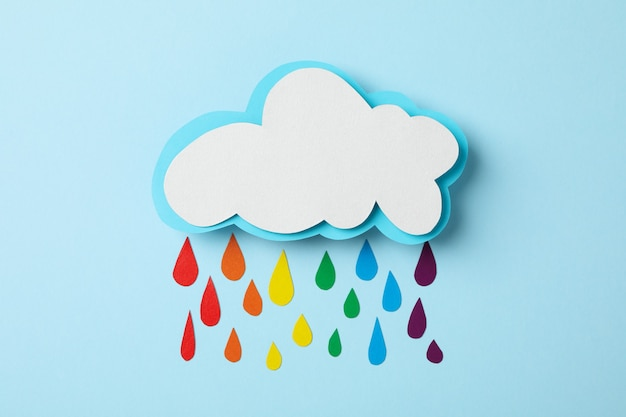 Cloud and drops in lgbt color