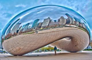 Чикаго бобов cloud gate
