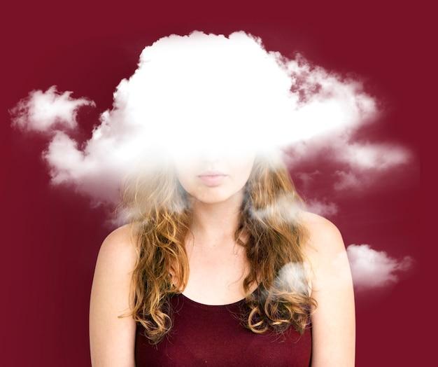 雲に隠されたジレンマうつ病の至福