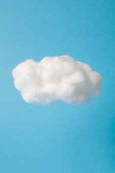 Cloud made out of cotton wool on sky