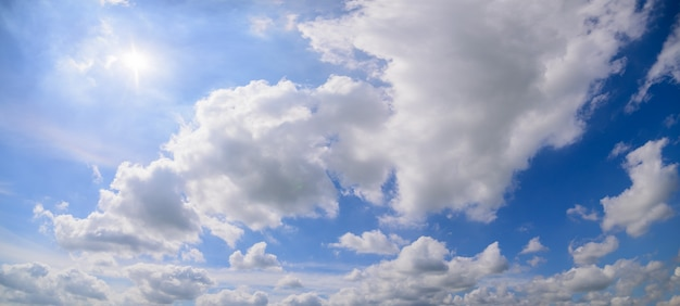 Cloud sky in the daytime