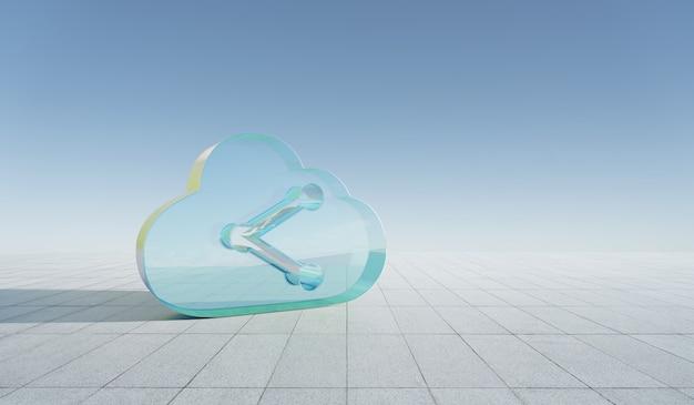 Концепция облачных технологий хранения Premium Фотографии