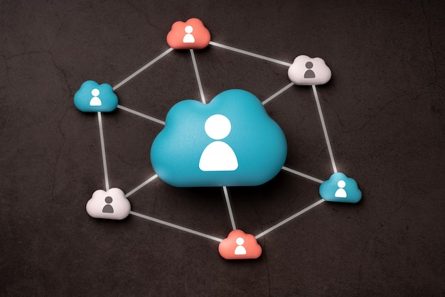 Cloud technology for global business concept
