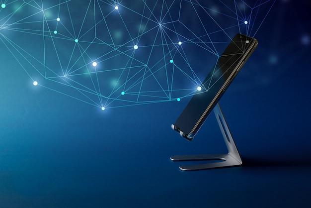 Значок облачных технологий на смартфон для бизнес-концепции