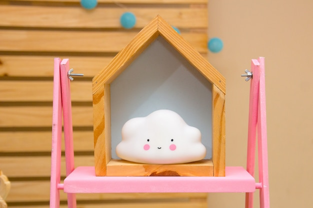 Cloud used to decorate a children's party