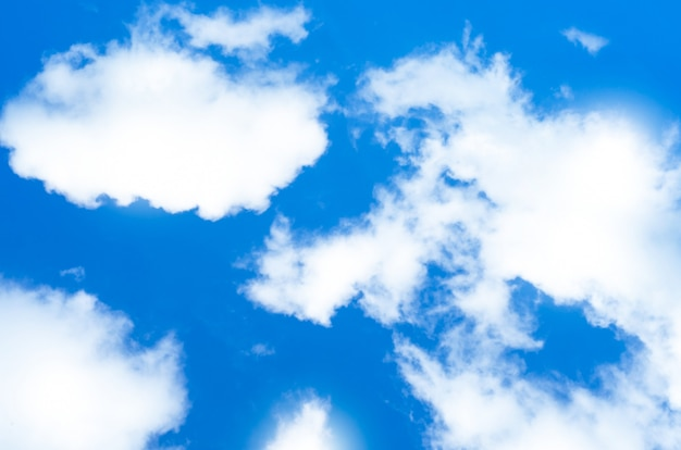 Cloud with blue sky background