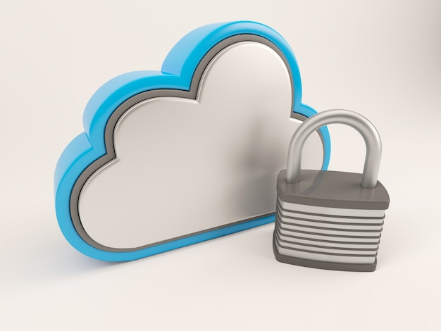 Cloud with a lock