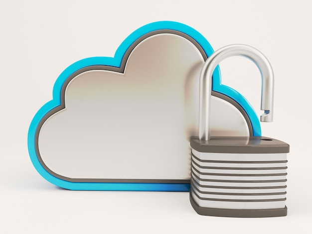 Cloud with an open lock
