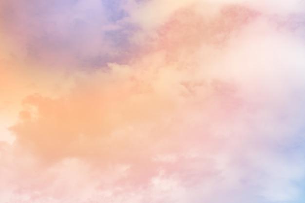 Cloud with a pastel colour