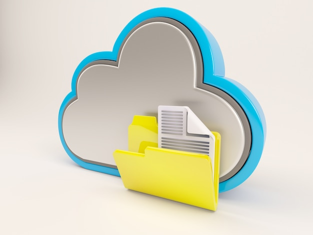 Cloud with yellow folder